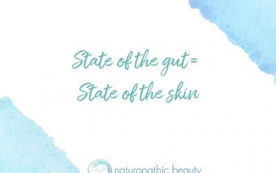 An unhealthy gut = acne.
