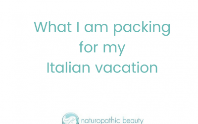 What I am packing for my Italian vacation